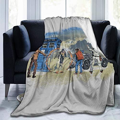 NUJSHF Time Travelers Doctor Who Terminator - Manta de franela de forro polar, ligera, ultrasuave, cálida, apta para sofá