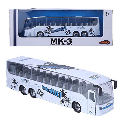 Sren Modello di Autobus, Giocattolo per Autobus Materiale in Lega di Alta qualità per Bambini da Collezione(Bianco)