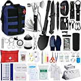 Furaso Emergency Survival Kit 234 pcs Professional Survival Gear Tool Tactical First Aid Kit Outdoor Trauma Bag with Molle Pouch for Camping Hiking Adventures[Upgrade]