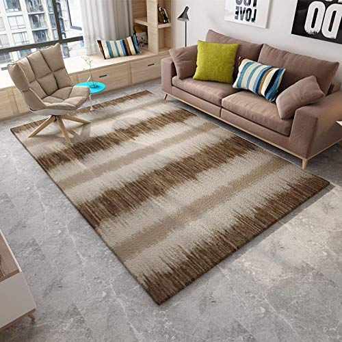 HXJHWB rugs Living Room Rectangular Size - Living room sofa simple and exquisite 3D printing carpet comfortable children crawling carpet-160CMx230CM