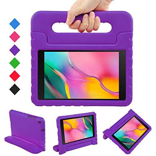 LEADSTAR Funda para Samsung Galaxy Tab A 8.0 2019, Ligero y Super Protective Antichoque EVA Estuche Protector Diseñar Especialmente Manija Caso con Soporte para los Niños, SM-T290 / T295 (Púrpura)