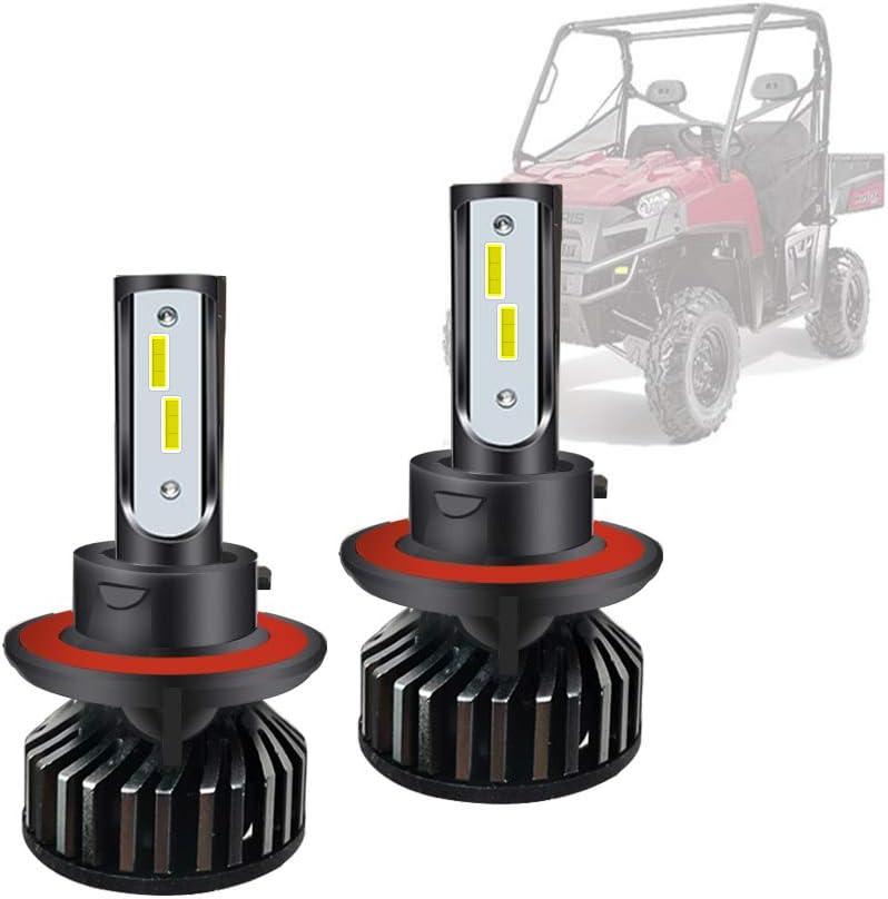 LED H13 Head Light Kansas City Mall Bulb Kit Polaris Low Award RZR Ranger General H and