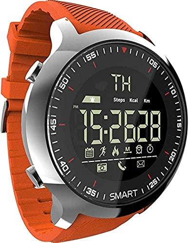 SHIJIAN Reloj deportivo inteligente impermeable, podómetro mensaje recordando al aire libre natación pulsera inteligente para hombre, pulsera de uso diario, regalo para hombre y mujer - naranja