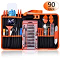 GANGZHIBAO 90pcs Electronics Repair Tool Kit Professional, Precision Screwdriver Set Magnetic for Fix Open Pry Cell Phone, Apple iPhone, Computer, PC, Laptop, Tablet, iPad, Macbook with Portable Bag by GANGZHIBAO