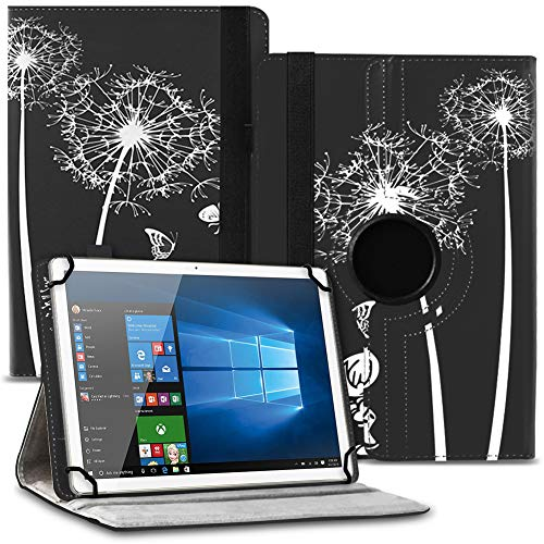 UC-Express Tablet Schutzhülle kompatibel für Asus ZenPad 10 Z301ML Z301MFL Z300M Hülle Tasche 360° Drehbar Kunstleder Standfunktion Cover Universal Hülle, Farben:Motiv 12