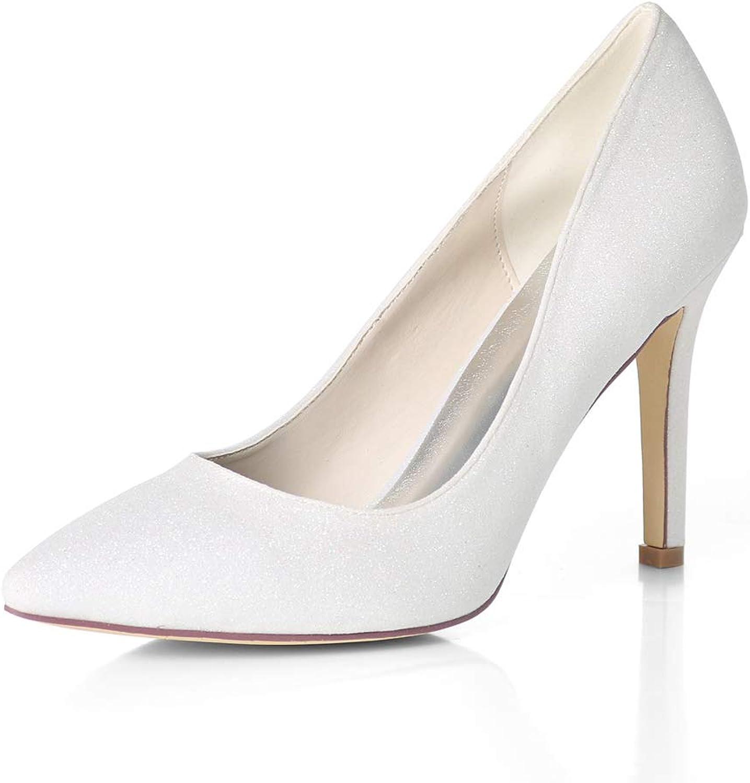 HLG Klassische spitzschuh der frauen zehen stilettos glitter glitter high heels hochzeit braut party prom stiletto high heels  die beste Auswahl an