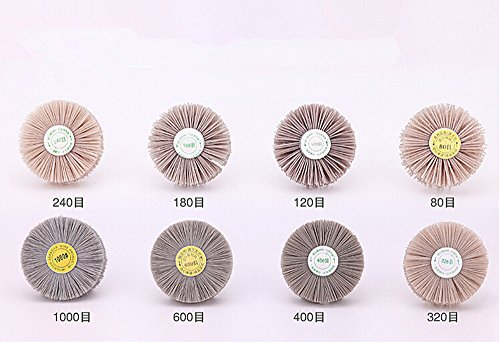 4 Pieces Abrasive Wire Grinding Flower Head Polishing Brush 6mm shank for Grinding Tool Accessories