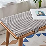 BoruisX Long Bench Cushion with Velcro, 2 or3 Seater Bench Swing Mat Pad Replacement Mattress Breathable Seat Pad Indoor Outdoor,2.5cm Thick (140x35cm,Gray)