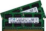 Samsung - 8 GB Mémoire ordinateur portable - Kit 2x4 GB Dual Channel d'origine 204 pin DDR3-1333 PC3-10600 CL9 SO-DIMM pour DDR3 i5 + i7 portatif avec DDR3-1333 MHz support
