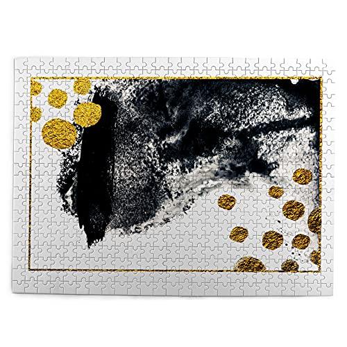 huagu Puzzle 500 Piezas-Rompecabezas Adultos-artgold Pintura Natural Lujo Pintura Negra-Juegos Educativos-Entretenimiento,Niños y Adolescentes,Divertido Regalo
