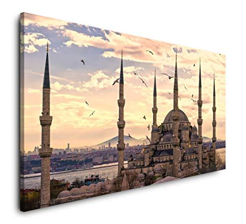 Paul Sinus Art Istanbul 120x 60cm Panorama Leinwand Bild XXL Format Wandbilder Wohnzimmer Wohnung Deko Kunstdrucke