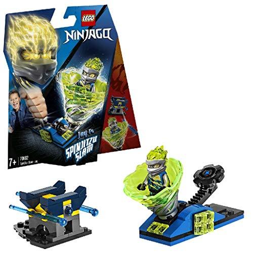 LEGO 70682 NINJAGO Spinjitzu Slam - Jay, Tornado-Spinner mit Starter und Shooter Set, Actionspielzeuge für Jungen und Mädchen