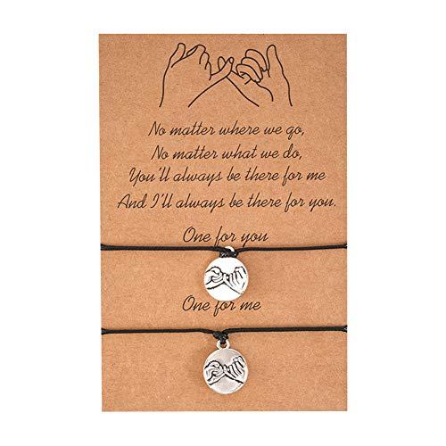 Pulsera para el amor, Amistad, mejor amiga, mamá, 2 unidades, con gancho, puntos, personalizable, pulsera de tobillo, oro y plata