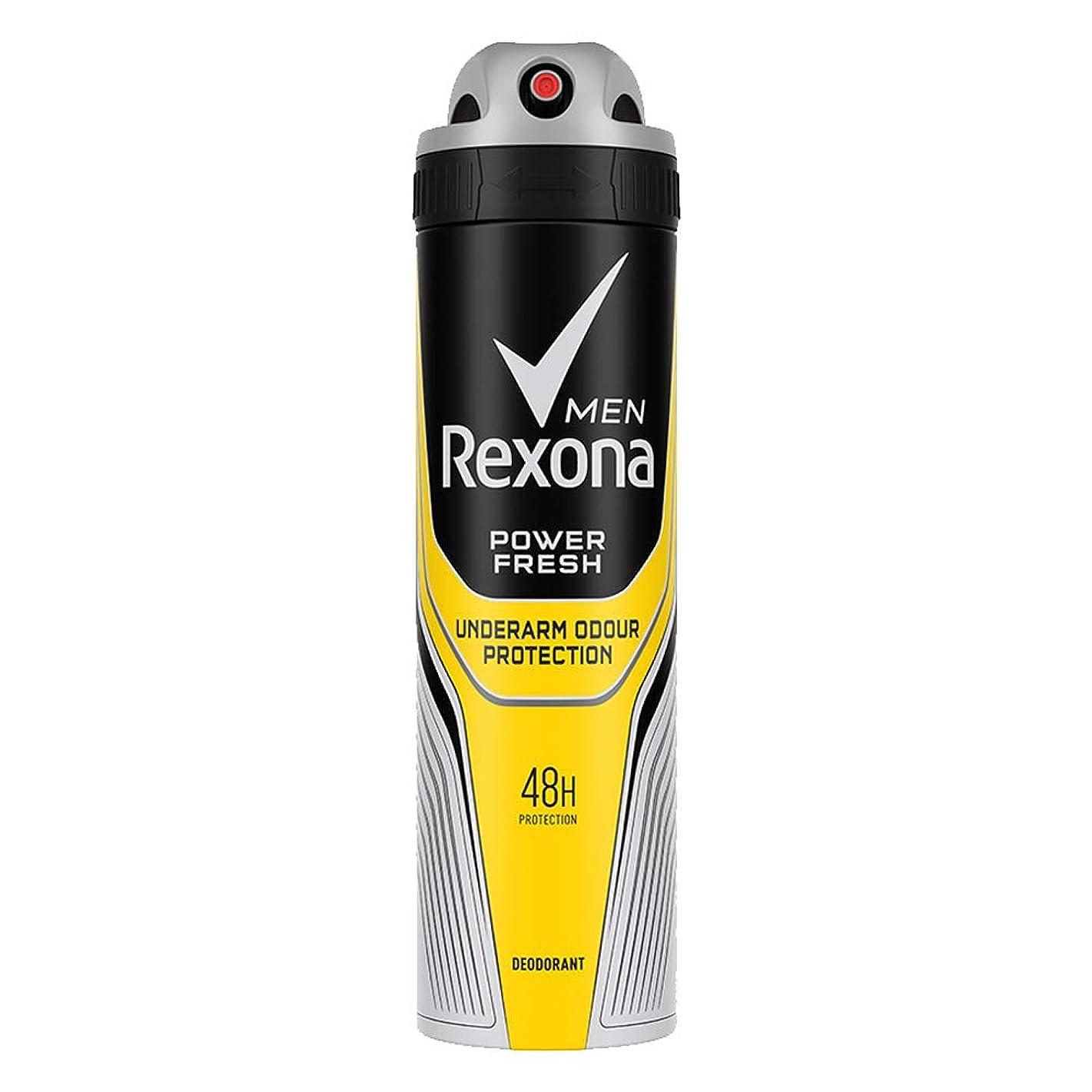 構成絶壁副産物Rexona Men Power Fresh Underarm Protection Deodorant, 150 ml
