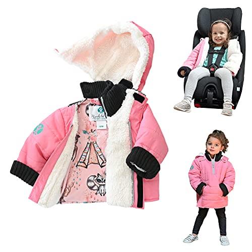 Girls Toddler Winter Coat | Buckle Me Baby Patented Water...