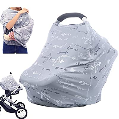 Breastfeeding Nursing Cover Carseat Canopy - Multi Use Car Seat Covers for Babies, Infant Stroller Cover, Nursing Scarf, Baby Shower Gifts for Boys and Girls by Hicoco