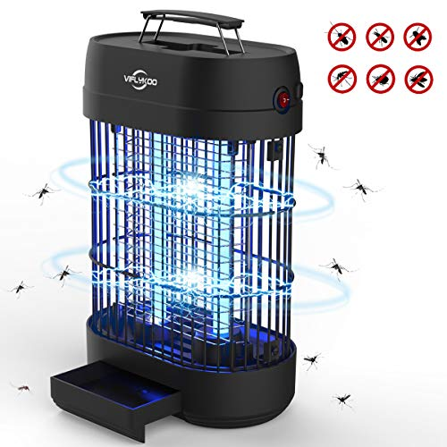 VIFLYKOO Lampe Anti-Moustique,UV LED Tue Mouches Destructeur...