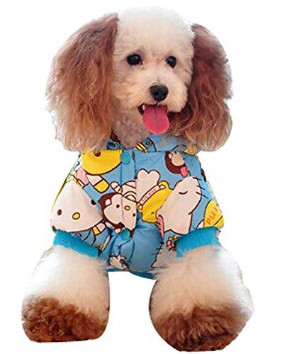 confortable d'hiver pour chien Veste imperméable pour animal domestique Vêtements (Bleu ciel, taille : L)