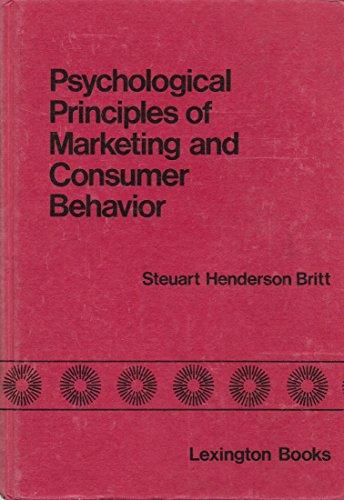 Psychological principles of marketing and consumer behavior