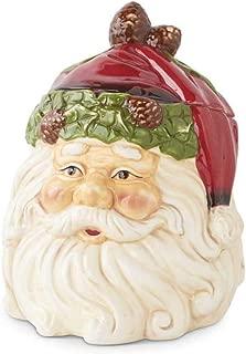 Vintage Santa Claus Design Christmas Cookie Jar, 8 Inch