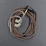 New KZ ZSNPRO Earphone Cable 2 Pin 0.75mm Upgraded Cable Replace Dedicated Cable 2-PIN Audio Wire for KZ ZSN ASF AST Zax DQ6 ASX Headphone Accessories (Without Mic)