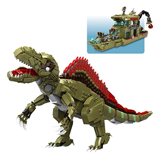GILE Juego de construcción de dinosaurio de 1064 piezas, juego de construcción de dinosaurios, modelo coleccionable compatible con los dinosaurios Lego