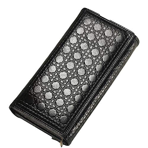 QQBB echt lederen dames portemonnee, Rhombus Clutch, modieuze opvouwbare vrouwen portemonnee portemonnee, voor vriendin