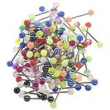 Beyda 100 piercing per piercing per lingua, capezzolo, barretta