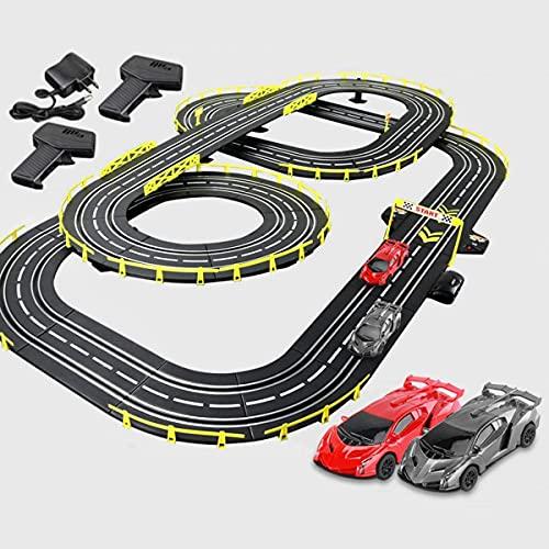 N&G Decoración del hogar 7.2M Slot Car Juguete Educativo Pista eléctrica Juego de Carreras R/C Control Remoto de Alta Velocidad Pista de Empalme Regalos de cumpleaños de Navidad para niños y niñas (C