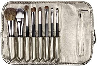 Matto Travel Makeup Brush Set 8-Piece Makeup Brushes with Travel Pouch Bag Including 5 Nature Goat Hairs and 3 Synthetic Fibers Make Up Brushes