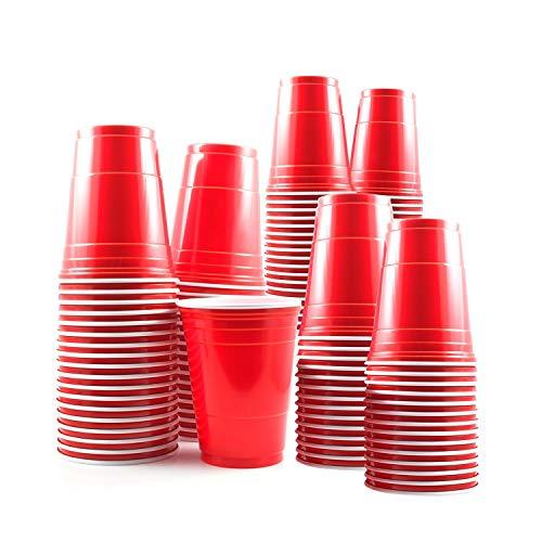 aoory 100 Vasos Rojos Desechables de 16oz – Accesorio de Fiesta para...