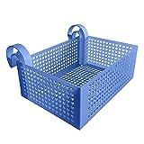Cesta colgante para piscina, cesta de almacenamiento para piscina, accesorios para piscina, soporte para bebidas, estante para flotador, color azul