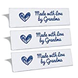 Wunderlabel Made with Love by Grandma gewebtes Etikett