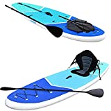 """Zupapa Upgrade Inflatable Stand Up Paddle Board 6"""" Thick 10 FT Kayak Convertible All Accessories..."""