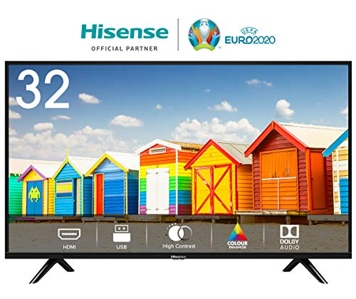 Hisense H32BE5000 - TV LED 32' HD, 2 HDMI, 1 USB, Salida Óptica, Audio DD+, Negro