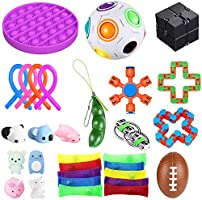 bopel 30 Pcs Sensory Fidget Toys Set, Stress Relief and Anti-Anxiety Tools Bundle Toys Assortment,Stocking Stuffers for...