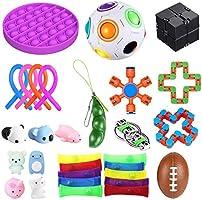 bopel 30 Pcs Sensory Fidget Toys Set, Stress Relief and Anti-Anxiety Tools Bundle Toys Assortment,Stocking Stuffers for...