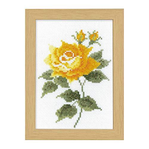 オリンパス 刺繍キット 12ヶ月の花フレーム刺しゅうキット 10月イエローローズ マリー カトリーヌ コレクション 7517 オリム