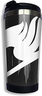 Travel Mug Símbolo De Fairy Tail Personalizado Taza De Café De Acero Inoxidable Taza De Café Taza De Viaje 400 Ml Cumpleaños Durable Reutilizable Unisex