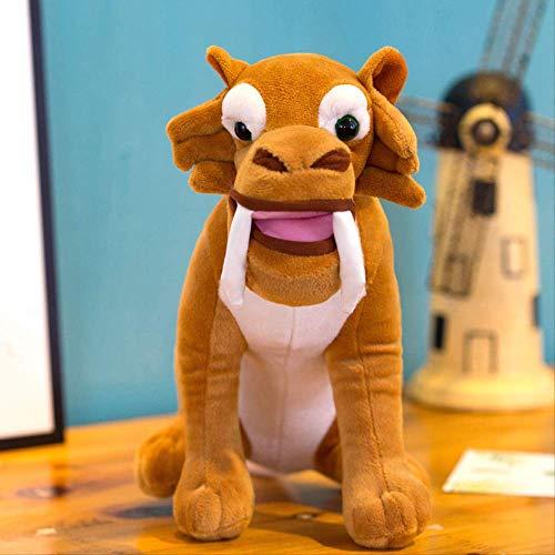 qwerwj Lustige Süße Tier Puppe EIS Alter 3 Scrat Eichhörnchen Gefüllt Plüsch Spielzeug Geschenk 27cm0.21kq Säbelzahntiger