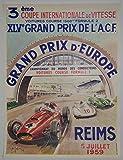 Reims Formel 1 Grand Prix 1959 Poster, Reproduktion/Format