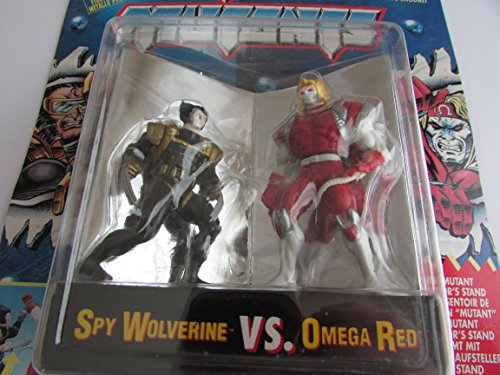Spy Wolverine vs Omega Red - Die Cast Metal Figures - Rare - X-Men Steel Mutants - Poseable - Collector Series - Toy Biz - Marvel - Limited Edition - Mint - Collectible