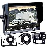 "Backup Camerafor Trailer, VECLESUS VMST Trailer Backup Camera Kit, 7""Wide Screen, Night Vision, Waterproof, 33ft+ 66ft Extension Cord + Detachable Trailer Connector Kit for TruckRV Camper Trailer"
