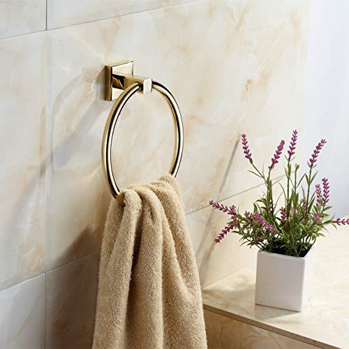BGL Goldener Handtuchhalter, moderner Stil, 304 Edelstahl, WC-Handtuchring für Bad-Dekor
