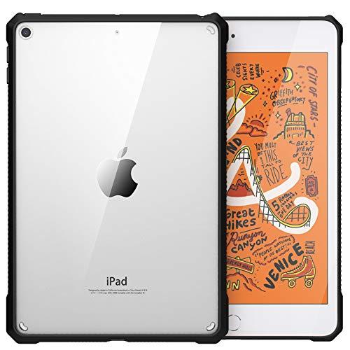 MoKo Hülle Kompatibel mit New iPad Mini 5 2019 (5th Generation 7.9 inch)/iPad Mini 4, Ultra Weich Flexibel Transparent TPU Acryl Bumper Kantenschutz Stoßfest Rückseite Schutzhülle - Schwarz