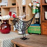BZEAA Adornos Metal Iron Wire Bird Hollow Modelo Artificial Artesanía Moda Casa Muebles Mesa Adornos Decoración Regalo (Color : B)
