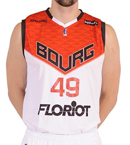 Spalding Bourg JL EN-Bresse Replica Home Basketball Trikot Herren XX-Small weiß
