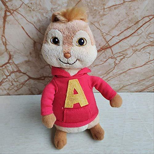 yqs Peluche Alvin And The Chipmunks Peluche Alvin Simon Theodore Brittany Jeanette Film Peluche Bambola Giocattolo per Bambini Regalo di Festa