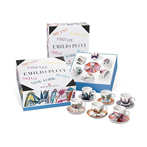 ILLY ART COLLECTION Coffee Set by Emilio Pucci - 6 Cappuccino Cup + 6 Saucers