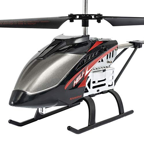 Mini RC Helicopter, Remote Control Helicopter with Gyro and LED Lights for Kids and Adults, 3.5 Channel, Cool Airplane Indoor & Outdoor for Plane Fans, Toy Gift for Boys Girls